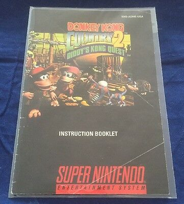 Donkey Kong Country 2. INSTRUCTION BOOKLET MANUAL ONLY. NO GAME