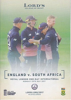 cricket Lords England South Africa ODI 2017 match preview programme 10 pages