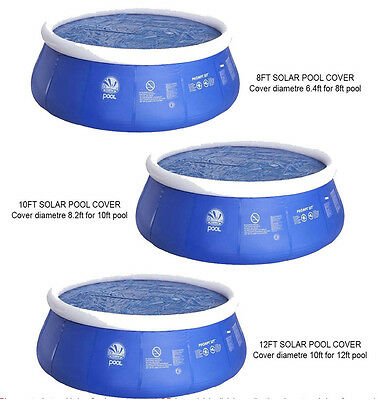 8' 10' 12' Floating Solar Pool Cover Inflatable Swimming Pools