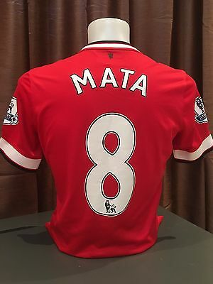 Manchester United Match Worn Mata Shirt