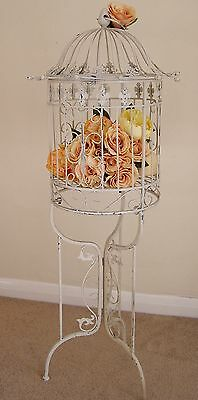 Shabby Chic Bird Cage on Stand Vintage Style Venue Decor Wedding  Card Post Box