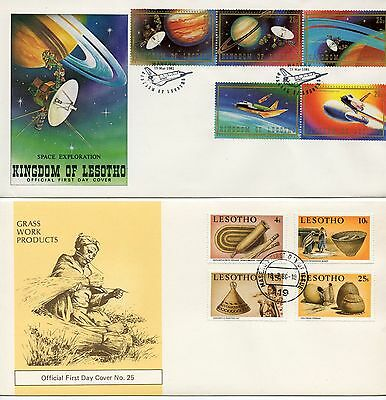 Lesotho selection of covers and first day covers - see 10 scans
