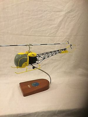 """Bell 47G helicopter, from the TV show """"Whirlybirds"""", scale model"""