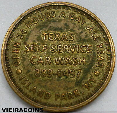 Texas self service Car Wash, Island Park NY Token , 25 mm  Hard to Find- #9247