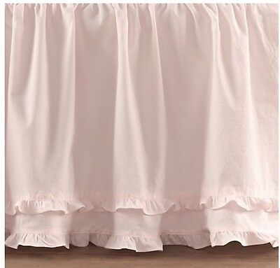 NEW $129 Restoration Hardware European Vintage Washed Ruffle Queen Bed Skirt