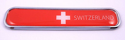 Switzerland Swiss  flag Chrome Emblem 3D auto Decal sticker car bike boat 5.3""