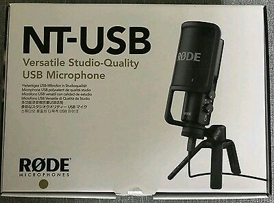 Rode NT-USB Condenser Microphone *Brand New*