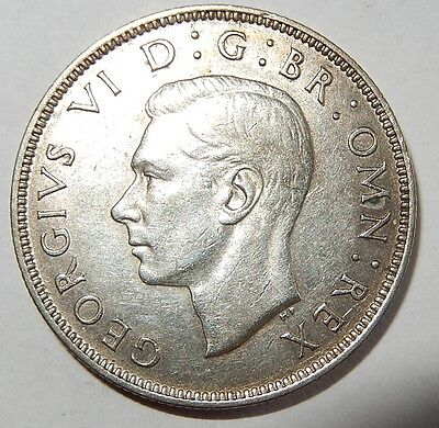 Great Britain 1941 Silver Florin,Two Shillings VF