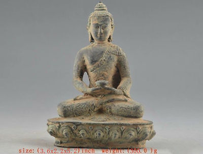 Chinese Old Bronze Collectable Handwork Carved Buddha Statue