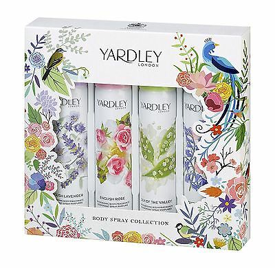 Yardley London Body Spray Collection 4 x 75ml Gift Set