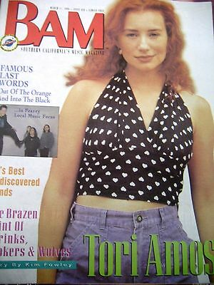 Tori Amos on the cover of BAM magazine Mar. 1994    L.A.  Area Version