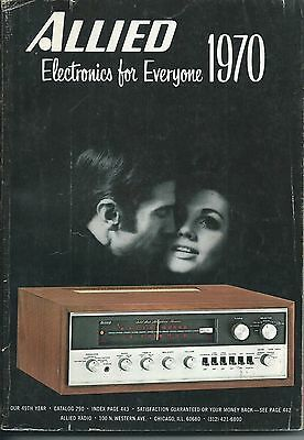 Allied Radio 1970 Vintage Electronics Catalog. 551 Pages.