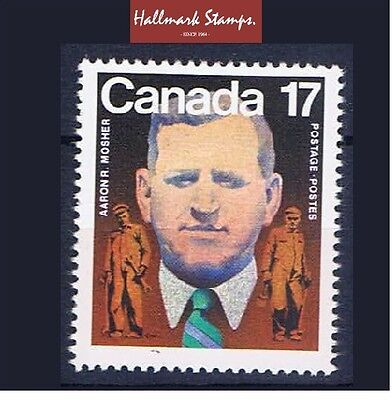 canada stamps sg1022 Birth Centenary of Aaron R. Mosher 1981  ... Mint