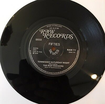 The Riot Rockers - Tennesse Saturday Night - FAST VERSION Raw Records ROCKABILLY