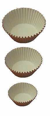 Cream Muffin Baking Papers Cupcake Cases Holders Assorted Sizes Quantity 9990