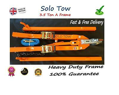 Solo Tow 3.5 Ton Recovery Professional Heavy Duty A Frame Free P&p