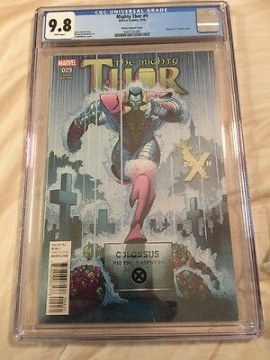 Rare The Mighty Thor 9 Tradd  Moore Variant Cover CGC 9.8 Wow!!!