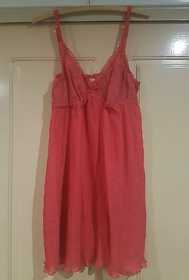 Intimo Slip Lacy pink Size 14
