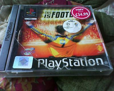 Playstation 1 Or 2 Game Version Of This Is Football No Booklet