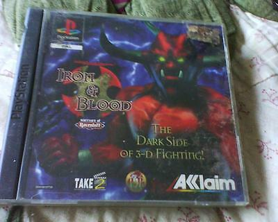 Playstation 1 Or 2 Game Version Of Iron & Blood Complete