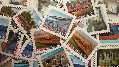 25 Canada uncancelled P used postage stamps