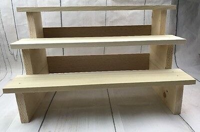 Unfinished Wood Soap or Product Display Shelf craft show display, vendor display