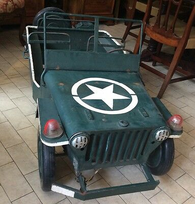 voiture de manege /art forrain /jeep willys /ww2