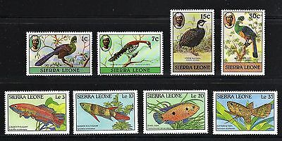 Sierra Leone -- animals -- 8 different MNH from 1980 & 1988