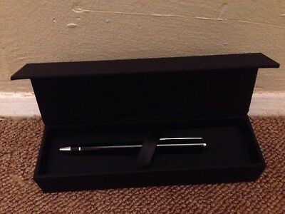 Hugo Boss Experience Black Pen (Blue Ink) In Gift Box