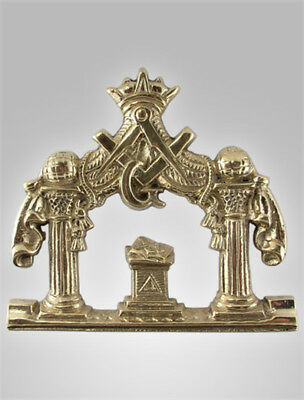 Awesome Antique Brass Masonic Plaque