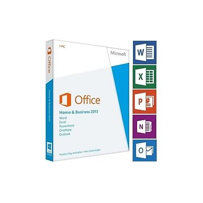 Microsoft Office 2013 Home and Business inkl. DVD OEM, Deutsch / Multilingual