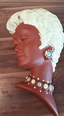 Rare Terracotta Face mask Stamped 9006 Art deco