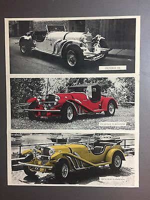 1968 Excalibur SS Showroom Advertising Folder Brochure RARE!! Awesome L@@K