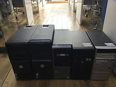 Bulk PC X 5 Intel P4 Windows 7 And Office 07 Great For Internet Cafe Or PC Class