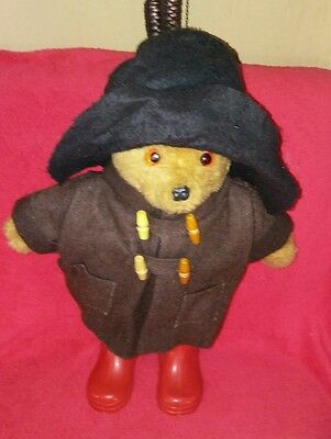 Early Vintage Paddington Bear Stumpy Legs Gr Britain Boots Large Heavy