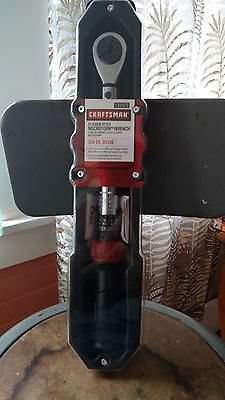 """Craftsman 31423 Clicker Style Microtork Wrench 3/8"""" Drive Brand New 25-250-In Lb"""