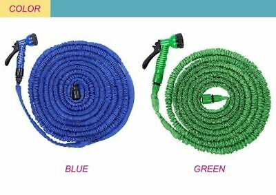 Expandable Flexible 20/50/75/100FT Stretch Magic Water Hose Pipe + Spray Nozzle
