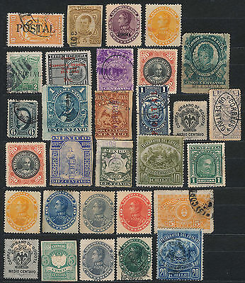 Collection Of Early Central And South American Revenue Stamps