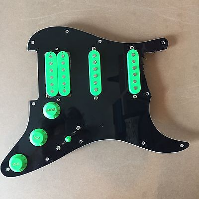Dragon Fire Pickups Loaded HSS Strat Pickguard Scratch Plate For Fender