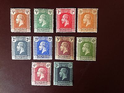 Cayman Islands 1921 Script Set to 1s MH