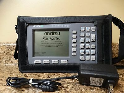 Anritsu S113B Site Master soft case, good battery, power adapter, TESTED WORKING