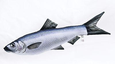 Herring Soft Toy Stuffed Fish pillow, pub, Ocean Sea fishing, angling, Gaby 60cm