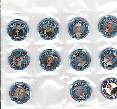 (11) $2.50 Binions Gallery Of Champions Casino Chips Lot Vintage Obsolete