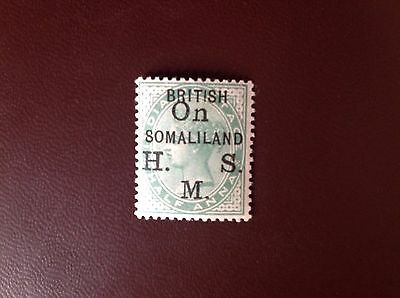 Somaliland Protectorate 1903 1/2a Yellow-Green Official SGO1 MH