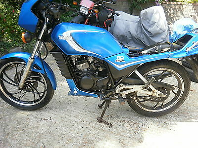 YAMAHA RD125LC MK1 10W Barn find restoration project,candy blue