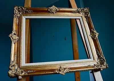 A Superb Antique Repro Swept Gilt Picture Frame Ornate French Rococo 51X41 CM *R