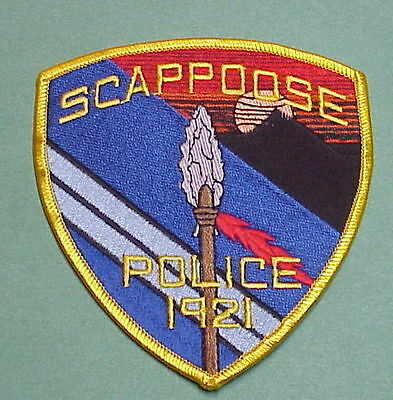 Scappoose  Oregon  Or  ( Indian Spear )  Police Patch   Free Shipping!!!