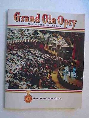 grand ole opry 1976 50th anniversary souvenir program  picture history 156 pages