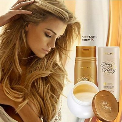 Oriflame Milk & Honey Shampoo, Conditioner and Mask ( Set of 3 products)
