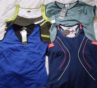 NEW Lot of 4 Women's Tennis Shirts ALL NWT! MSRP $204 Sz Small Bolle Tail Adidas